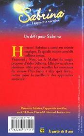 Sabrina t.14 ; un defi pour Dabrina - 4ème de couverture - Format classique