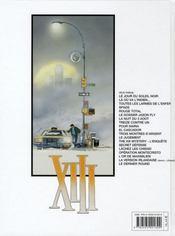 XIII T.19 ; le dernier round - 4ème de couverture - Format classique