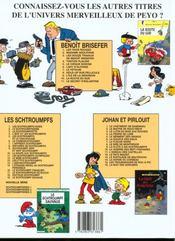 Benoît Brisefer t.11 ; le secret d'Eglantine - 4ème de couverture - Format classique