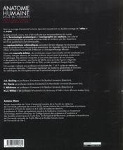 Anatomie humaine ; atlas en couleur - 4ème de couverture - Format classique