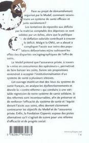 Main basse sur l'assurance-maladie face au projet de demantelement du systeme de sante organise par - 4ème de couverture - Format classique