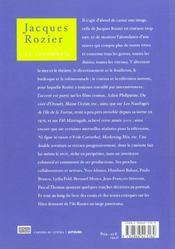 Jacques Rozier, le funambule - 4ème de couverture - Format classique