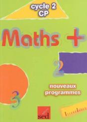 Maths + cp - fichier eleve-edition 2003 - Couverture - Format classique