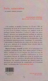 Paris, catacombes... où, quand, comment, pourquoi - 4ème de couverture - Format classique