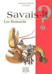 SAVAIS-TU ? T.17 ; les homards - Intérieur - Format classique