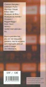 Chasseur de sons ; le repertoire des disquaires specialises de paris et banlieue - 4ème de couverture - Format classique