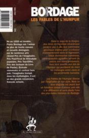Les fables de l'Humpur - 4ème de couverture - Format classique