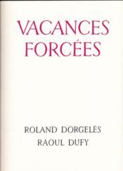 Vacances forcées - Couverture - Format classique