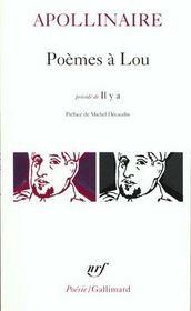 Poèmes à Lou ; il y a - Intérieur - Format classique