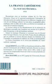 La France Cartesienne, La Nuit Des Olympica T.3 ; Essai Sur Le National-Cartesianisme - 4ème de couverture - Format classique