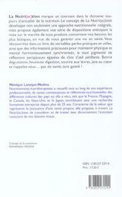 Nutri (ac) tion (la) - 4ème de couverture - Format classique