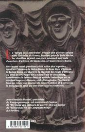 Legendes des cathedrales (les) - 4ème de couverture - Format classique