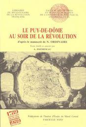 Le puy-de-dome au soir de la revolution - Intérieur - Format classique