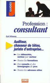 Profession : consultant - Intérieur - Format classique