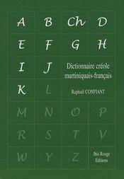Dictionnaire créole martiniquais/français - Couverture - Format classique