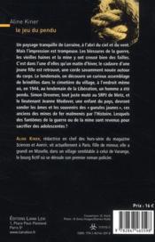 Le jeu du pendu - 4ème de couverture - Format classique