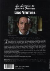 Les légendes du cinéma français : Lino Ventura - 4ème de couverture - Format classique