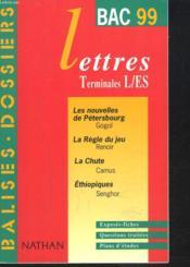 Balises Dossier Lettres 99 Terminale L/Es - Couverture - Format classique