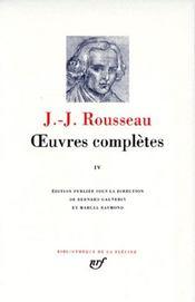 Oeuvres completes (tome 4-emile - education - morale - botanique) - Intérieur - Format classique