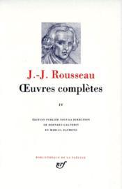 Oeuvres completes (tome 4-emile - education - morale - botanique) - Couverture - Format classique