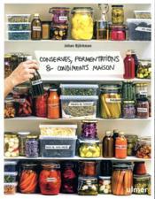 Conserves, fermentations & condiments maison - Couverture - Format classique