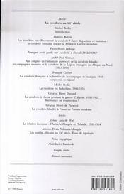 Guerres Mondiales Conflits Contemporains N.225 ; La Cavalerie Au Xx Siècle - 4ème de couverture - Format classique