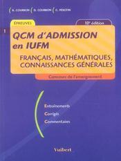 Qcm d'admission en iufm (10e édition) - Intérieur - Format classique