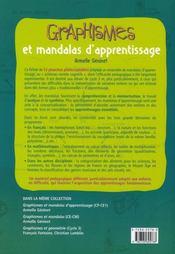 Graphismes et mandalas d'apprentissage ; cycle 3 ; fiches à photocopier - 4ème de couverture - Format classique