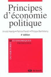 Principes D'Economie Politique - Intérieur - Format classique