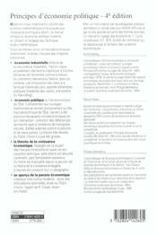Principes D'Economie Politique - 4ème de couverture - Format classique
