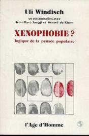 Xenophobie - Couverture - Format classique