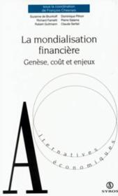 La Mondialisation Financiere - Couverture - Format classique