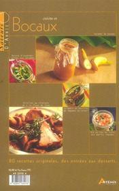 Cuisine En Bocaux - 4ème de couverture - Format classique