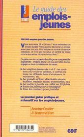 Guide des emplois jeunes (le) - 4ème de couverture - Format classique