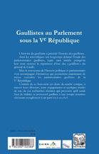 REVUE PARLEMENT(S) N.5 ; vivement demain ! gaullistes au parlement sous la Ve république - 4ème de couverture - Format classique