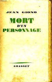 Mort D Un Personnage. - Couverture - Format classique