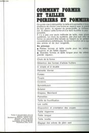 Comment Former Et Tailler Les Poiriers Et Pommiers N°10 - Couverture - Format classique