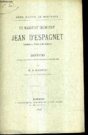 Un Magistrat Hermetiste Jean D'Espagnet / Discours Prononce A L'Audience Solenelle De Rentre Le 16 Octobre 1896 (Plaquette). - Couverture - Format classique