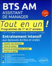 Tout-en-un BTS ; BTS assistant de manager ; entraînement intensif aux épreuves écrites et orales (2e édition) - Couverture - Format classique