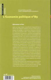 L'ECONOMIE POLITIQUE N.89 ; la planification, une idée d'avenir - 4ème de couverture - Format classique