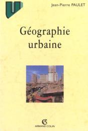 Geographie Urbaine - Couverture - Format classique
