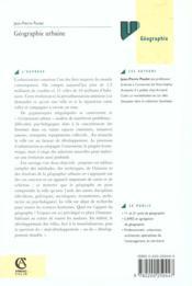 Geographie Urbaine - 4ème de couverture - Format classique