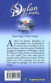 Dylan Le Dauphin T.1 ; Sauvetage A Haut Risque - 4ème de couverture - Format classique