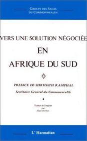 Vers une solution négociée en Afrique du sud - Intérieur - Format classique