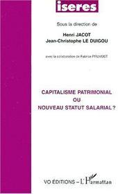 Capitalisme patrimonial ou nouveau statut salarial ? - Couverture - Format classique