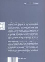 Culture En Trompe-L'Oeil (La) - 4ème de couverture - Format classique
