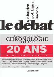 Revue Le Débat N.111 ; 20 ans t.2 - Intérieur - Format classique