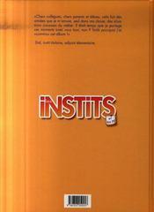 Les instits t.1 ; rentrée très classe ! - 4ème de couverture - Format classique