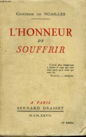 L Honneur De Souffrir. - Couverture - Format classique