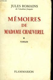 Memoires De Madame Chauverel. Tome 1. - Couverture - Format classique